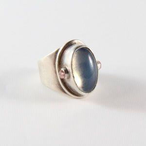 Jewelry - Sterling Opal & Tourmaline Statement Ring 4.75